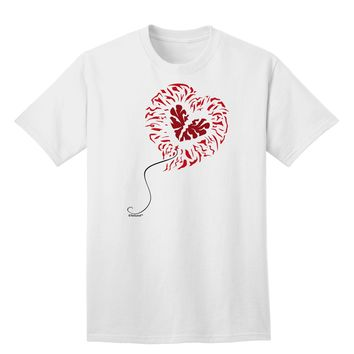 Broken Heart Popped Red Heart Balloon Adult T-Shirt