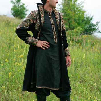 "DISCOUNTED PRICE! Exclusive Fantasy Medieval Coat ""Elven Prince"""