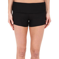 Next by Athena Womens Black Good Karma Shorebreaker Roll Top Swim Shorts Size L