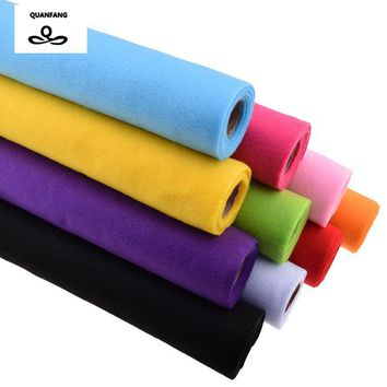 Non Woven New Felt Fabric 2mm Thickness Polyester Soft Felt Of Home Decoration Pattern Bundle For Sewing Dolls Crafts 45x90cm