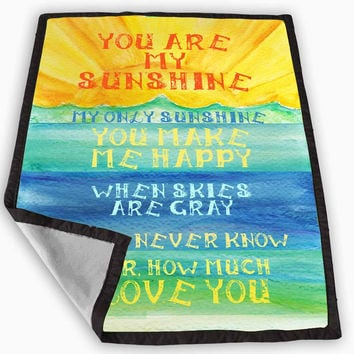 you are my sunshine quote Blanket for Kids Blanket, Fleece Blanket Cute and Awesome Blanket for your bedding, Blanket fleece *