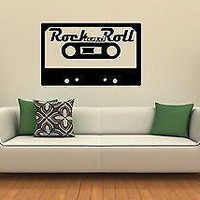 Wall Stickers Vinyl Decal Cassette Rock'n'roll Music Decor for Room Unique Gift (ig1065)