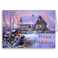 Vintage Christmas Custom Greeting card