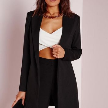 Missguided - Longline Blazer Black