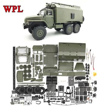 WPL DIY RC Truck Kit B36 Ural 1/16 2.4G 6WD Remote Control Military Truck Rock Crawler Car Hobby Toys for Boys carro eletrico