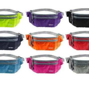 Unisex  Men Women Waist Packs Bags Unisex Nylon Waistband for accessory men Small Travel Belt Bag