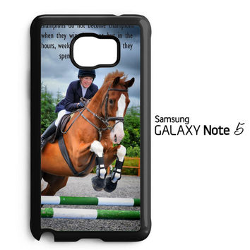 horse jumping photography Y2410 Samsung Galaxy Note 5 Case