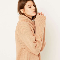 Light Before Dark Chunky Ribbed Turtleneck Jumper - Urban Outfitters