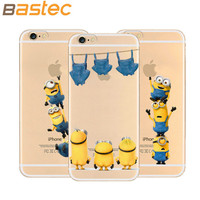 2015 Newest 5.5 inch Phone Case for iPhone 6 plus / 6s plus with 19 Styles Despicable Me Minions Silicone Transparent Cover