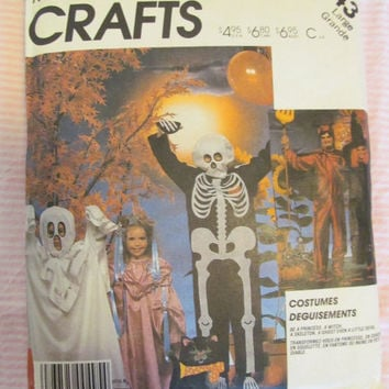 SALE McCalls Halloween Costume Sewing Pattern! Size Large, Adults, Children, Skeleton, Devil, Witch, Ghost, Princess