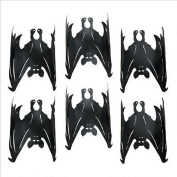 Dark Side Metal Vampire Bats: Set Of 6 - Design Toscano