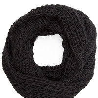 Xena Infinity Knit Scarf - Black - One Size / Black