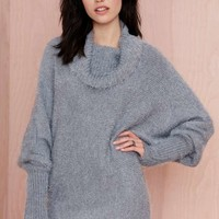 Nasty Gal Alpine Fuzzy Sweater