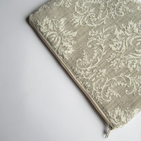 Damask MacBook 13 sleeve with zipper, MacBook Air 13 sleeve, MacBook Air 13 Case, MacBook Pro 13 case, MacBook Air 13 Cover