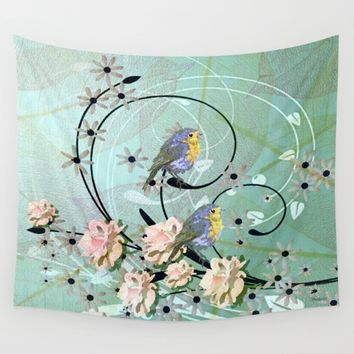 The Chickadee's Serenade Wall Tapestry by Madeline M Allen