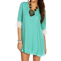 Mint Crochet Cuff Tunic