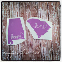 State Decal - Home Love - Alabama, South Carolina, Texas,  Any State, Lots of Sizes
