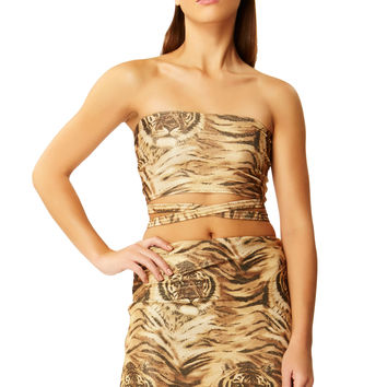 Wild Thing Gold Tiger Mini Skirt