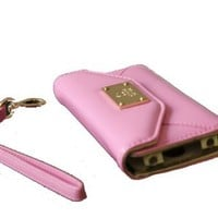 Luxury Designer Synthetic Leather Case Cover Wallet Purse Clutch for Apple iPhone 4 4S