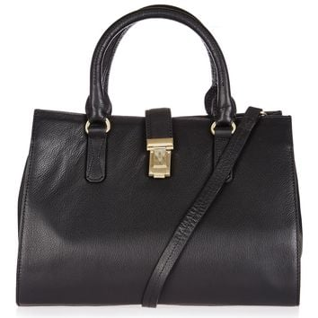 HOLLAND Lock Leather Holdall | Topshop