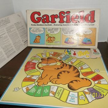 vintage 1978 garfield the cat parker brothers board game complete
