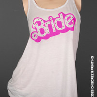 Bride Shirt - Barbie Bride Tank Top - rhinestones