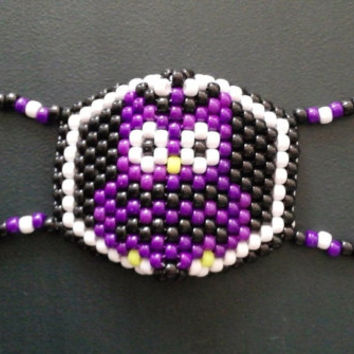 Purple Owl Kandi Mask