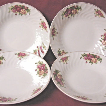Royal Norfolk China Dinnerware England Country Rose also Cottage set 4 soup bowl