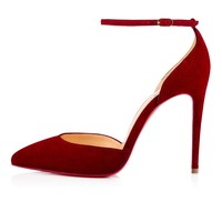Uptown 100 Carmin Suede - Women Shoes - Christian Louboutin