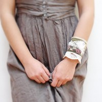 Textile Cuff - Where the Forest Meets the Sea