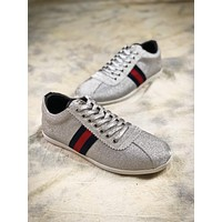 Gucci Bambi Glitter Low-top Trainers Silver 419712kw0401074329