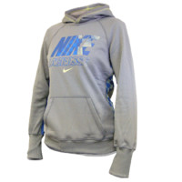 Nike Lacrosse Girls Lax All Time Hoody in Grey with check print | Lacrosse Unlimited