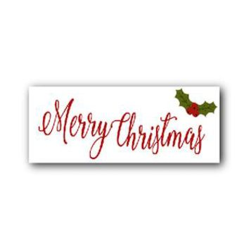 MERRY CHRISTMAS  Birch Wooden Sign Photo Prop -  PRMERRYCHRISTMAS