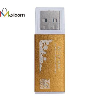 DCCKJY1 USB 2.0 All In 1 Multi Memory Card Reader  3 Color 480 Mb/s Metal Shell Mould For T-Flash, Micro SD, Micro SDHC, Mini SD SO On