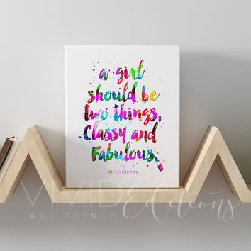 Classy & Fabulous Chanel Quote Gallery Wrapped Canvas