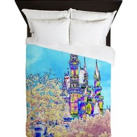 Cotton Candy Castle Queen Duvet
