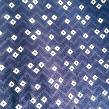 Indian Blue Print Cotton fabric for women clothing, non stiching Cotton Fabric, Printed Cotton, Hand Block Print Fabric, Cotton Fabric