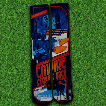 Empire Strikes Back Socks,Custom socks,Personalized socks,Elite socks