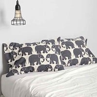 Magical Thinking Elephant Print Pillowcase Set-