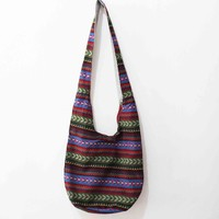 Vintage Shoulder Bag Aztec Hippie Hippy Gypsy Boho Tribal Big Oversized Woven Hobo Sling Crossbody Bag