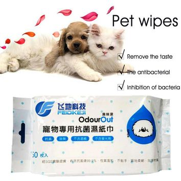 50 Pieces/bag Pet Supplies Bath Puppy Cat Kitten Toilet Dog Wet Tissue tool pet accessories pet cleaning tissue pet health h3