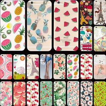 5/5S SE 4'' Hot! Summer Cool Series Sweet Watermelon Silicon Phone Cases For Apple iPhone 5 iPhone 5S iPhone SE Case Cover Shell
