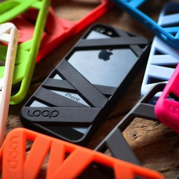 Loop Attachment Mummy Case for Apple iPhone 5 - Neon Blue