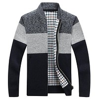 Winter Men's Jackets Thick Cardigan Coats Mens Brand Clothing