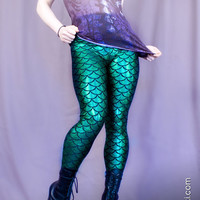 Mermaid Leggings 8 Colors Custom Made