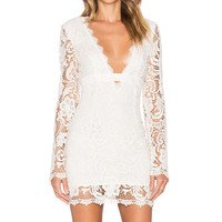 THE JETSET DIARIES Pisa Lace Bodycon in Ivory
