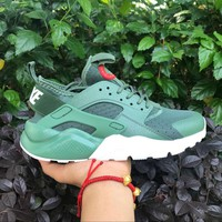 Best Online Sale Nike Air Huarache 4 Rainbow Ultra Breathe Men Women Hurache Green Running Sport Casual Shoes Sneakers - 104