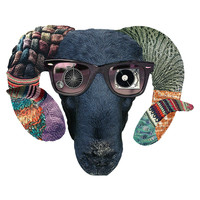 Hipster Sheep by Eugenia Loli