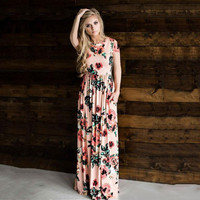 Floral floor length Maxi dress beach summer