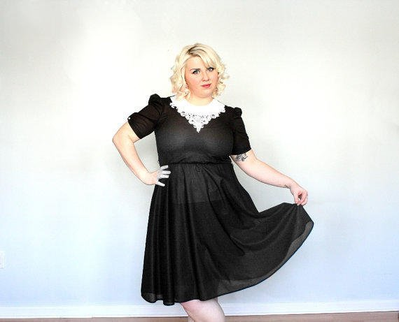 Wednesday Addams Night out Plus size Dress by threadoverheels